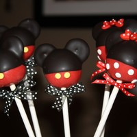 Mom's Killer Cakes & Cookies ORIGINAL DESIGN and FIRST On Etsy Pants and Skirt Mouse Boy and Mouse Girl Cake Pops