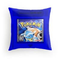 Pokemon Blue Cartridge Pillow