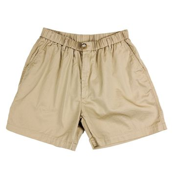 "Longshanks 5.5"" Chino Shorts in Khaki by Country Club Prep - FINAL SALE"