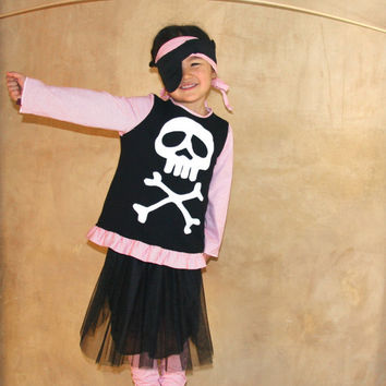 Girl pirate costume Pirate Princess Tutu-cruise clothes, pirate Tutu, shabby chic pirate black tutu skirt