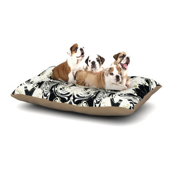 """Dawid Roc """"THe Palace Walls III"""" White Abstract Dog Bed"""
