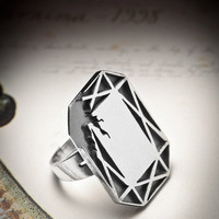 GLAMOUR-sterling silver ring