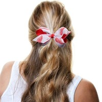 Detroit Red Wings Two-Tone Bow - Red/White