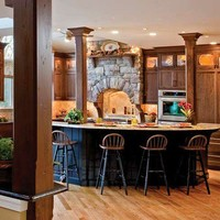 Favorite Places and Spaces / Kitchens .com - Traditional Kitchen Photos - Black Kitchen Island