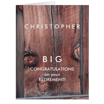 BIG Custom Retirement Congratulations Old Red Barn Card