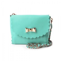 Bow Tie Petal Cowhide Leather Mini Satchel