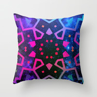 *** MILLENIUM FLASH *** Mandala Galaxy Ombre Throw Pillow by Monika Strigel