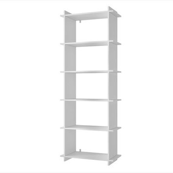 Accentuations by Manhattan Comfort Convenient Gisborne Bookcase 2.0 with 5- Shelves