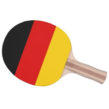 Black Red Gold Stripes Ping-Pong Paddle