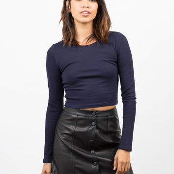 Long Sleeve Cropped Thermal