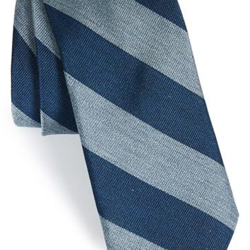 Men's Todd Snyder White Label Stripe Silk Tie, Size Regular