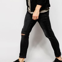 ASOS | ASOS Super Skinny Jeans With Rips at ASOS