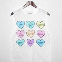 MEAN HEARTS Unisex Muscle Tee