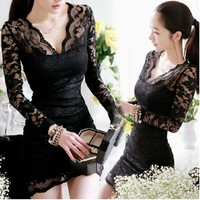 NICE LACE DEEP V NICE DRESS