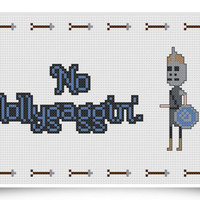 Skyrim Quote Cross Stitch Pattern - No Lollygaggin - Instant Download