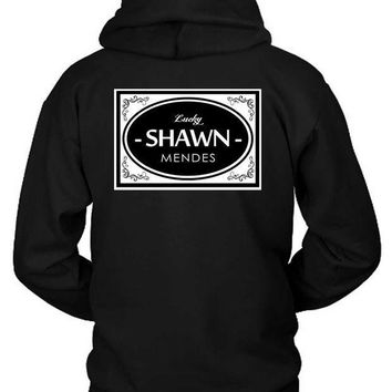 ESBH9S Shawn Mendes Lucky Shawn Mendes Retro Style Hoodie Two Sided