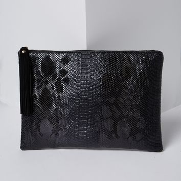 Alligator Leather Skin Clutch