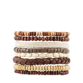 ASOS Leather Bracelet Pack With Beads