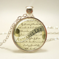 Edgar Allan Poe Necklace Annabel Lee Gothic Jewelry by rainnua