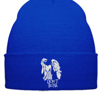 DONT BLINK DOCTOR WHO EMBROIDERY HAT  - Beanie Cuffed Knit Cap