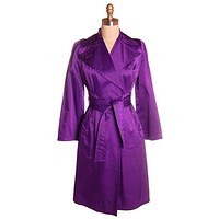 "Vintage ""Purple Rain"" Trench Coat 1970s Small Large Collar 36-28-38"