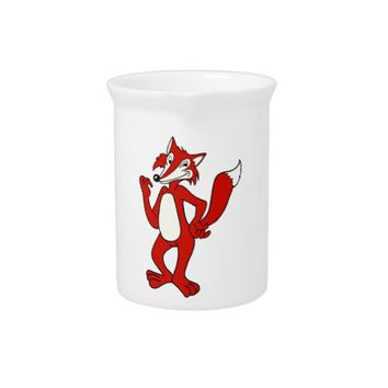 Red Fox Drink Pitcher