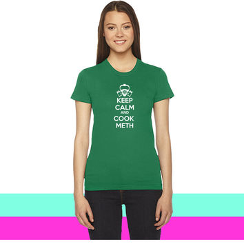 Keep Calm and Cook Meth women T-shirt