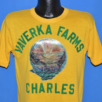 80s Vaverka Farms Charles Iron On t-shirt Medium