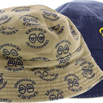 Krooked Shmolo Reversible Bucket Adjustible Navy/Khaki