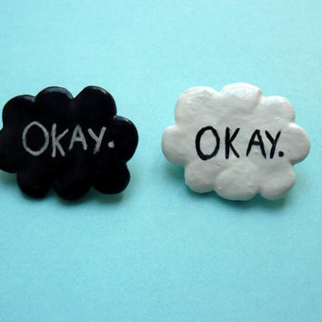 OneThe fault in our stars 'Okay' badge by LornaYasmin on Etsy