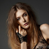Studded Leather Butterfly Fingerless Glove  by LoveAtFirstBlush
