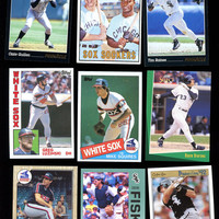 Chicago WHITE SOX FAN Vintage Baseball Card Lot of 9 cards from 3 Decades,Ventura,Fisk,Luzinski,Buford