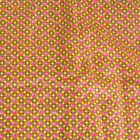 Vintage Cotton Fabric rosebuds brown with pink and yellow 5 yards