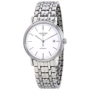 Longines Presence Automatic White Dial Mens Watch L49214126