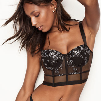Shine Lace Long Line Balconet Bra - Very Sexy - Victoria's Secret