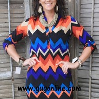 Endless Opportunities Chevron Dress in Black