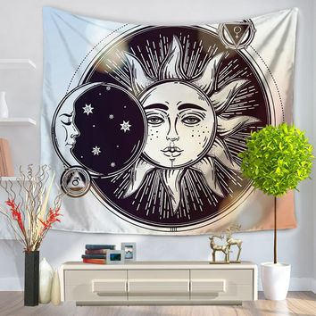 Sun & Moon Tapestry Wall Carpet Polyester Free Shipping