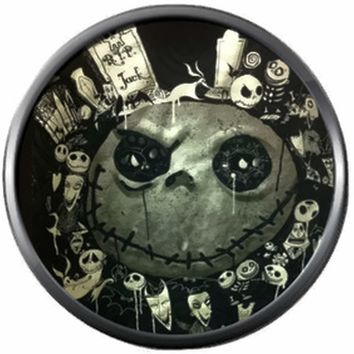 Spooky Jack Face Halloween Town Nightmare Before Christmas Jack Skellington 18MM - 20MM Charm for Snap Jewelry New Item