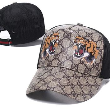 Gucci TIGER Nylon Baseball Cap Unisex Hat Summer Gift
