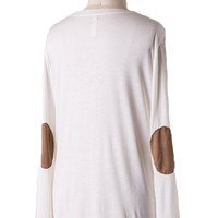 Essential Elbow Patch Top in Ivory - One Left!