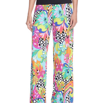 Balboa Printed Rolled-Top Pants, Size: