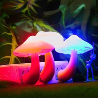 Mushroom LED Night Lamp decorative Gift modern design fashion LED Light Sensor Lamp For Baby Bedroom Lampara De Lava Nightlight