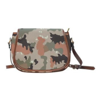Women Shoulder Bag Desert Camouflage Saddle Bag Large