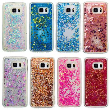 Dynamic Liquid Glitter Sand Quicksand Star Soft TPU Phone Case For Samsung Galaxy S7 S7 Edge Back Cover Mobile Phone Shell