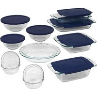 Non-Porous Glass Easy Grab Bakeware 19-Piece Set