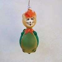 Cat Christmas Ornament Blown Glass Ornament by WhimzyThyme