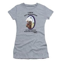 Parks and Recreation Li'l Sebastian Licensed Women's Junior T-Shirts - Grey
