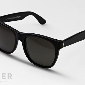 retroSUPERfuture Classic Gloss Black Sunglasses