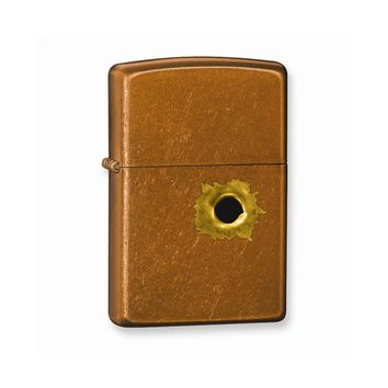 Zippo Bullethole Toffee Lighter - Engravable Personalized Gift Item