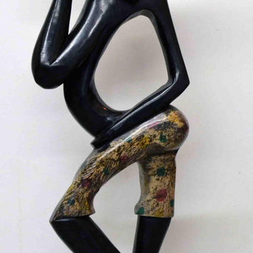 Art, African Art, Handmade, Carved, Wood, Family, Tribal, Afrocentric, African American, Sculptures, Abstract Art, Farmer